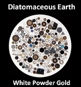 Diatomaceous Earth White Powder Gold
