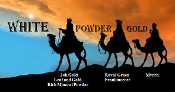 3 Wise Magi White Powder Gold
