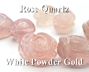 Rose Quartz White Powder Gold