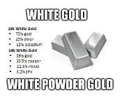 White Gold White Powder Gold