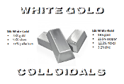 18k/14k White Gold Colloidals