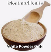 Montmorillonite White Powder Gold