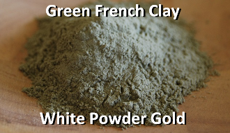 Green French Clay White Powder Gold