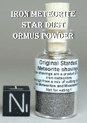 Iron Meteorite Star Dust Ormus Powder