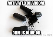 Activated Charcoal Ormus Olive Oil