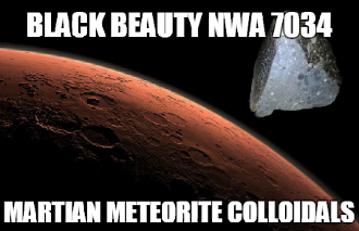Black Beauty NWA 7034 Martian Meteorite Colloidals