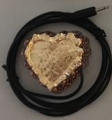 Gold Orgonite Heart with Piezo